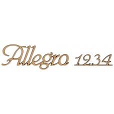 Letters and Numbers Corsivo Traforato Allegro