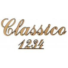 Letters and Numbers Corsivo Traforato Classico