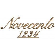 Letters and Numbers Corsivo Traforato Novecento