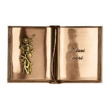 Cursive engraved book 17x27,5 cm with gold rose