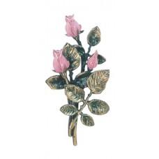 Pink rose spray 25 cm