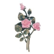 Pink rose spray 30,5 cm