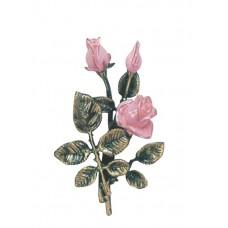 Pink rose spray 22 cm