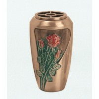 Bronze wall flowers vase 20x11 cm collection Rose Rosse